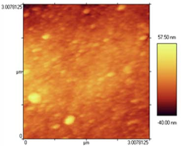 تصویر سطح غشاء پلیمری لایه نازک