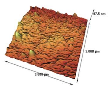 تصویر گرفته شده از سطح غشاء پلیمری لایه نازک با کمک نیروی میکروسکوپ نیروی اتمی